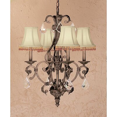 Asheville 6-Light Shaded Chandelier Crystal Type: Without Crystal
