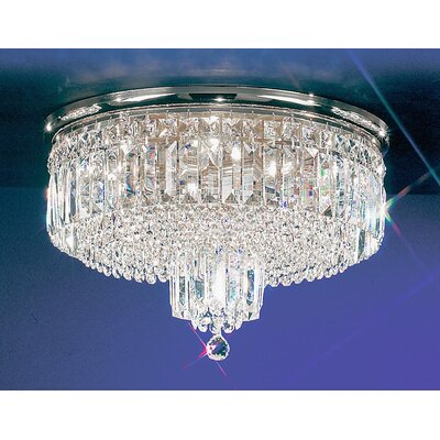 Ambassador 7-Light Semi-Flush Mount Finish: 24k Gold Plate, Crystal Type: Crystalique Plus