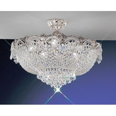 Regency II Semi-Flush Mount Crystal Type: Swarovski Spectra, Finish: 24k Gold Plate