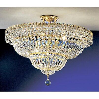 Princess Semi-Flush Mount Crystal Type: Swarovski Elements, Size: 19 H x 24 W x 24 D