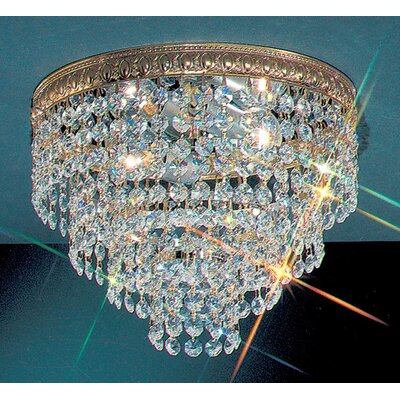Genevieve Crystal Light Semi-Flush Mount Size: 8