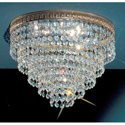 Genevieve Crystal Light Semi-Flush Mount Size: 9
