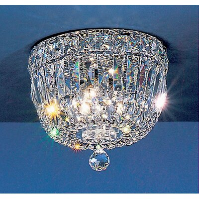 Empress Light Semi-Flush Mount Size: 6 H x 8 W x 8 D, Crystal Type: Swarovski Spectra