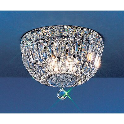 Empress Light Semi-Flush Mount Size: 7 H x 10 W x 10 D, Crystal Type: Crystalique-Plus