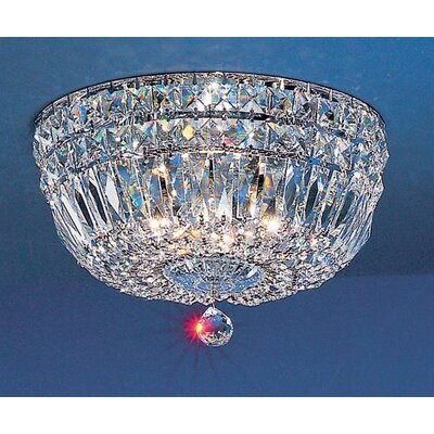 Empress Light Semi-Flush Mount Size: 7 H x 12 W x 12 D, Crystal Type: Crystalique-Plus