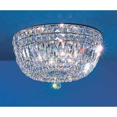 Empress Light Semi-Flush Mount Size: 8 H x 14 W x 14 D, Crystal Type: Crystalique-Plus