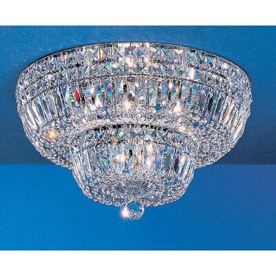 Empress Light Semi-Flush Mount Size: 12 H x 24 W x 24 D, Crystal Type: Crystalique-Plus