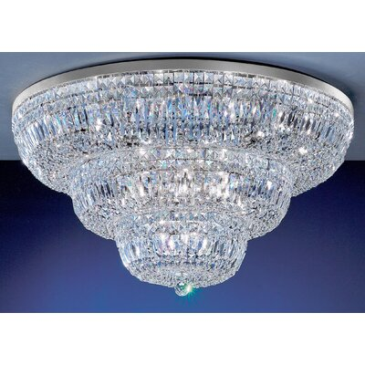 Empress 24-Light Semi-Flush Mount Crystal Type: Swarovski Elements