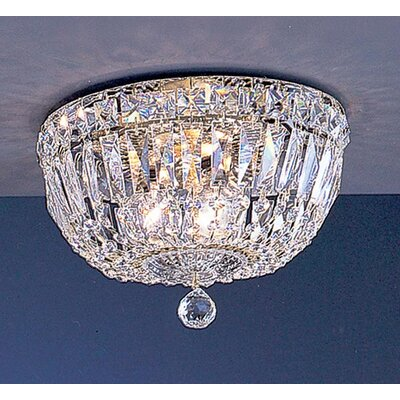 Empress 3-Light Semi-Flush Mount Crystal Type: Crystalique-Plus