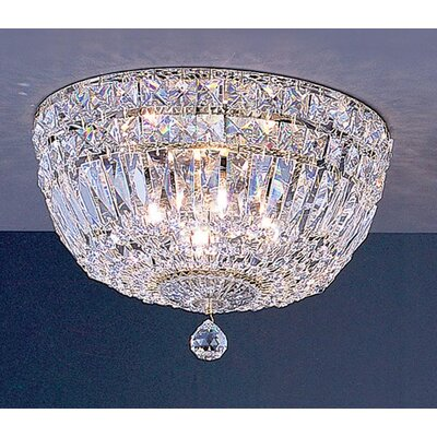 Empress 4-Light Semi-Flush Mount Crystal Type: Crystalique-Plus