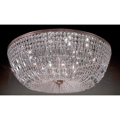 Genevieve 20-Light Semi-Flush Mount Finish: Roman Bronze, Crystal Type: Italian