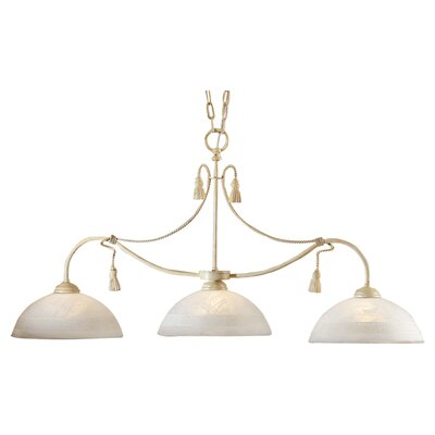Rope and Tassel 3-Light Kitchen Pendant Lighting/Billiard Light Finish: Ivory
