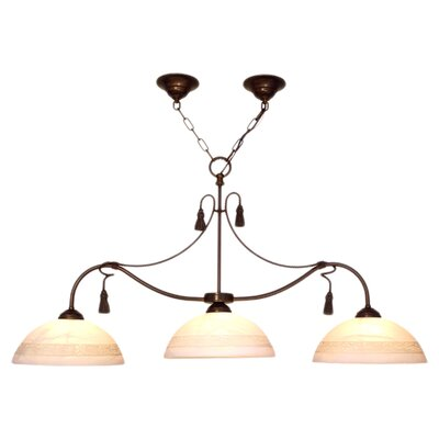 Rope and Tassel 3-Light Kitchen Pendant Lighting/Billiard Light Finish: Bronze