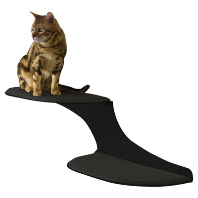 "10"" Coleen Clouds Wall Mounted Cat Perch Cloud Direction: Left Facing, Color: Black"