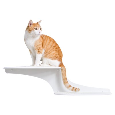 Haney 10 Clouds Wall Mounted Cat Perch Cloud Direction: Right Facing, Color: White