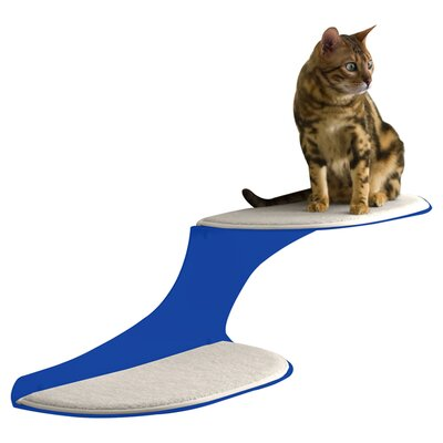 10 Clouds Wall Mounted Cat Perch Cloud Direction: Right Facing, Color: Blue