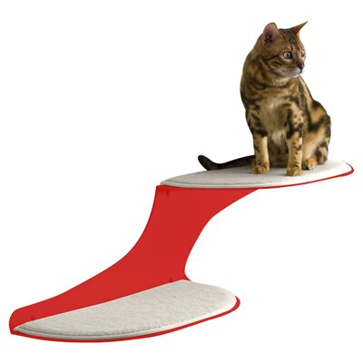"10"" Coleen Clouds Wall Mounted Cat Perch Cloud Direction: Left Facing, Color: Red"