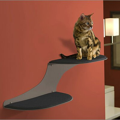 10 Clouds Wall Mounted Cat Perch Cloud Direction: Right Facing, Color: Titanium