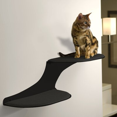 10 Clouds Wall Mounted Cat Perch Cloud Direction: Right Facing, Color: Black