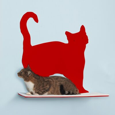 Silhouette Prance Cat Perch Color: Red