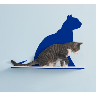 Silhouette Gaze Cat Perch Color: Blue