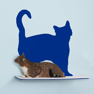 Silhouette Prance Cat Perch Color: Blue