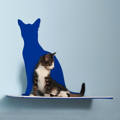 Silhouette Cat Perch Color: Blue
