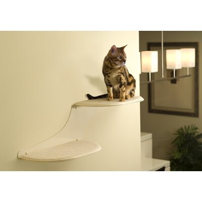 10 Clouds Wall Mounted Cat Perch Cloud Direction: Right Facing, Color: White