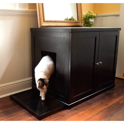 The Refined Litter Box Finish: Espresso, Size: Large