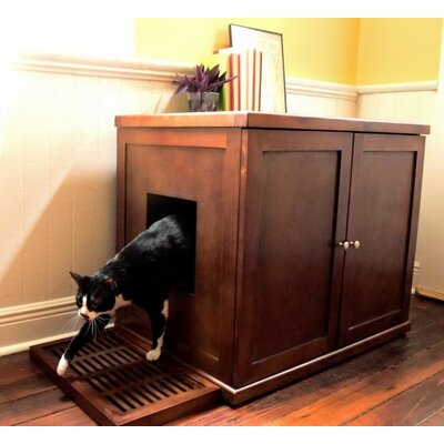 The Refined Litter Box Finish: Mahogany, Size: Large