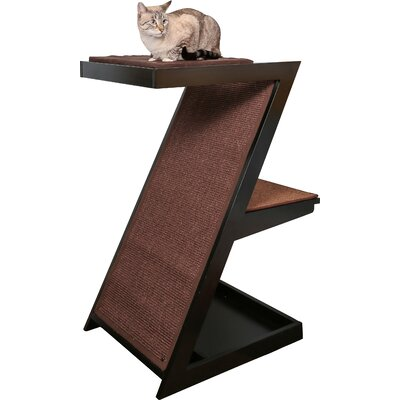 Hardin Zen Cat Scratching Post Color: Espresso
