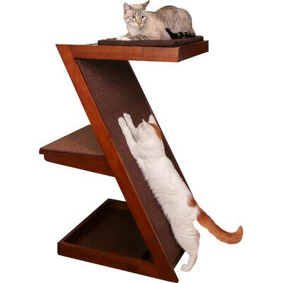 Hardin Zen Cat Scratching Post Color: Mahogany