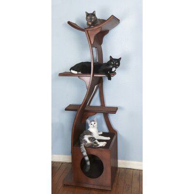 69 Garrett Cat Tree Color: Mahogany