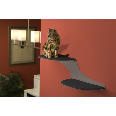 Haney 10 Clouds Wall Mounted Cat Perch Cloud Direction: Left Facing, Color: Titanium