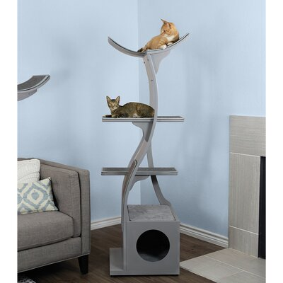 69 Lotus Cat Tree Color: Smoke