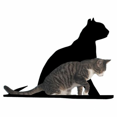 Silhouette Gaze Cat Perch Color: Black
