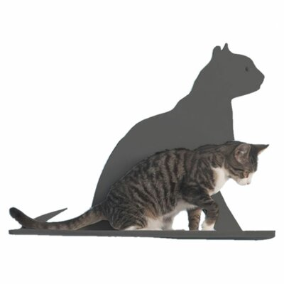 Silhouette Gaze Cat Perch Color: Titanium