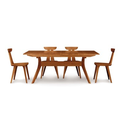 Furniture-Audrey Extendable Dining Table Finish Cognac Cherry