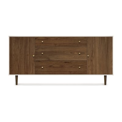 Mimo 2 Door and 3 Drawer Dresser Leg Color: Nickel