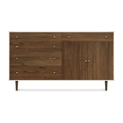 Mimo 2 Door and 6 Drawer Dresser Leg Color: Bronze