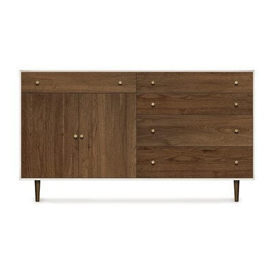 Mimo 2 Door and 5 Drawer Dresser Leg Color: Nickel