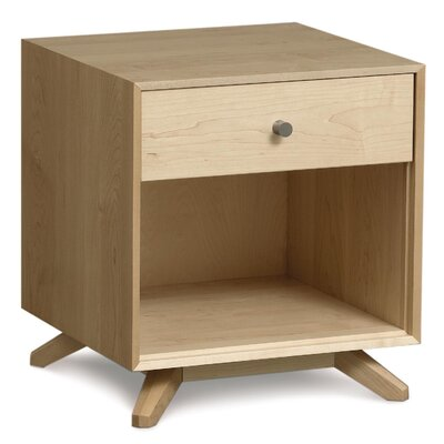 Astrid 1 Drawer Nightstand Color: Natural Maple