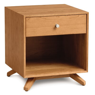 Astrid 1 Drawer Nightstand Finish: Cognac Cherry
