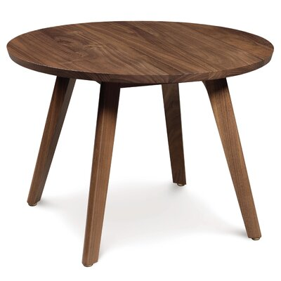 Catalina Side Table Size: 13.75, Finish: Natural Walnut