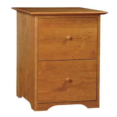 Sarah 2-Drawer Rolling File Finish: Autumn Cherry, Top Coat: Conventional Product Image 3012