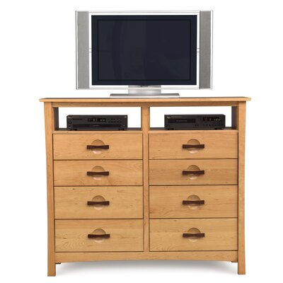 Berkeley 8 Drawer Media Chest Color: Natural Cherry