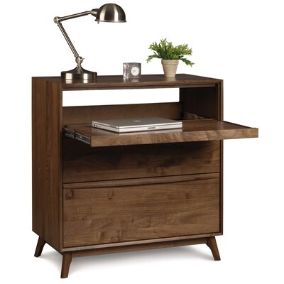 Catalina Credenza Desk Finish: Natural Walnut, Top Coat: Conventional Product Image 6583
