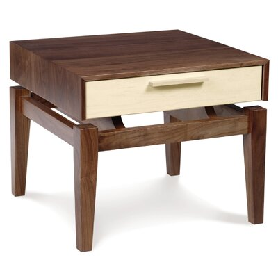 SoHo 1 Drawer Nightstand Drawer Finish: Walnut Drawers, Base Finish: Walnut Cases