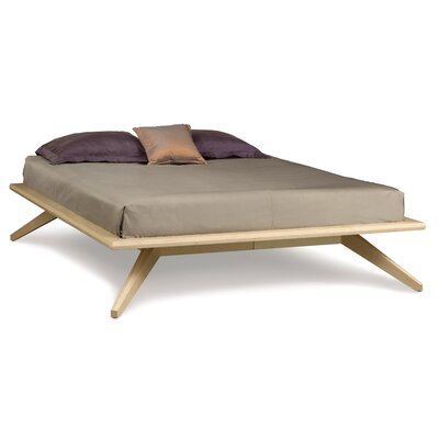 Astrid Platform Bed Finish: Natural Maple, Size: California King, Top Coat: Conventional