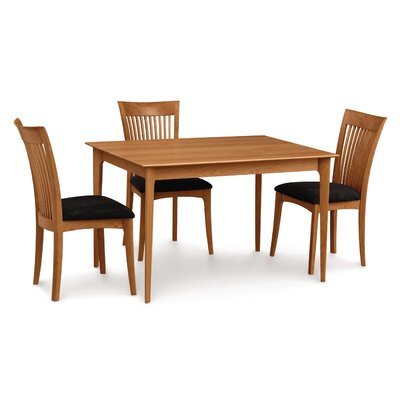 Sarah Dining Table Size: 30 H x 60 W x 40 D, Color: Smoke Cherry